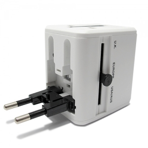 Univerzalni travel adapter EU-USA-UK-AUS 2USB
